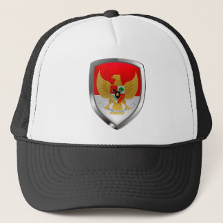 Indonesia Metallic Emblem Trucker Hat