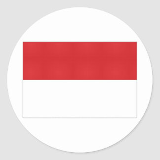Indonesia National Flag Classic Round Sticker
