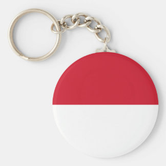 Indonesia National World Flag Basic Round Button Keychain