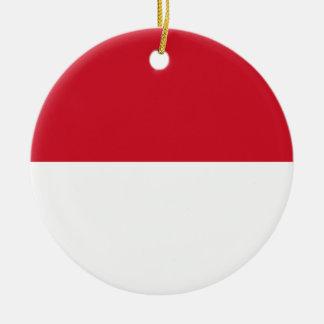 Indonesia National World Flag Ceramic Ornament