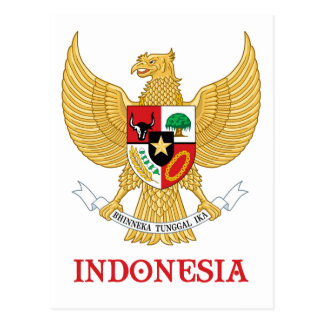 INDONESIA - seal/emblem/blazon/coat of arms/symbol Postcard
