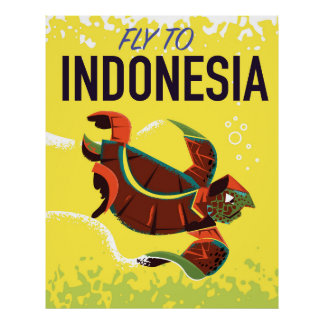 Indonesia Vintage Travel Poster Print