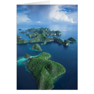 Indonesia, West Papua. Aerial Of Raja Ampat Card