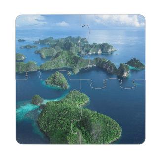 Indonesia, West Papua. Aerial Of Raja Ampat Drink Coaster Puzzle