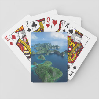 Indonesia, West Papua. Aerial Of Raja Ampat Playing Cards