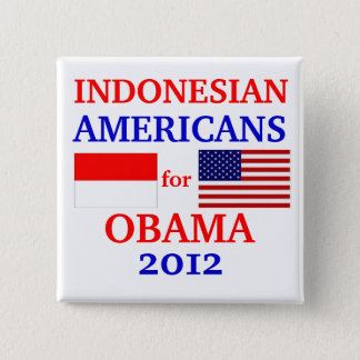 Indonesian Americans for Obama 2 Inch Square Button