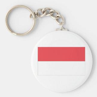 Indonesian Flag Basic Round Button Keychain
