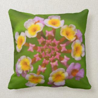 Indonesian Flower Throw Pillow