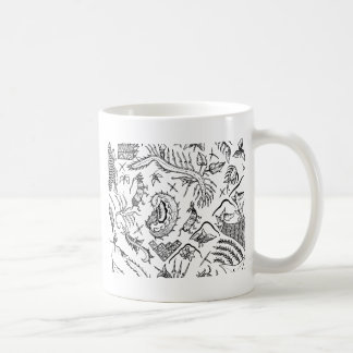 Indonesian Insects & Plants Textile Pattern Coffee Mug