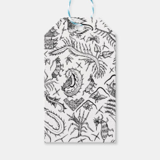 Indonesian Insects & Plants Textile Pattern Pack Of Gift Tags