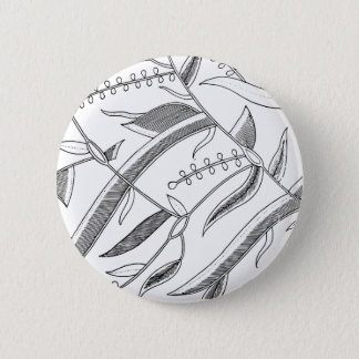 Indonesian Leafy Textile 2 Inch Round Button