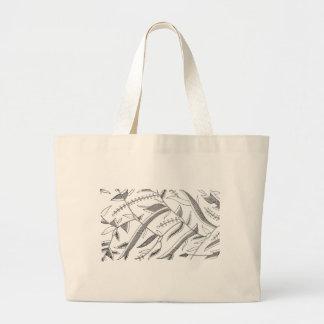 Indonesian Leafy Textile Large Tote Bag