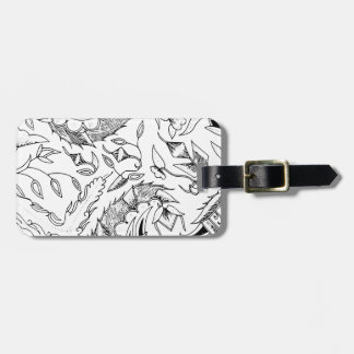 Indonesian Plants and Animals Textile Bag Tag