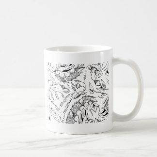 Indonesian Plants and Animals Textile Coffee Mug