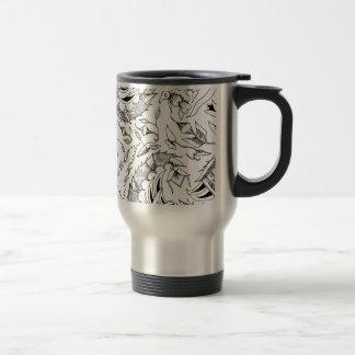 Indonesian Plants and Animals Textile Travel Mug