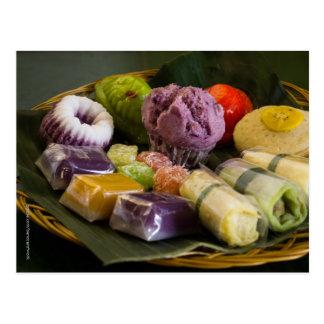 Indonesian Traditional Cake Postcard