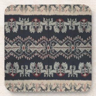 Indonesian Tribal Ikat Textiles Weavings Indonesia Beverage Coaster
