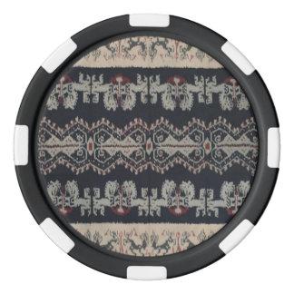 Indonesian Tribal Ikat Textiles Weavings Indonesia Poker Chip Set