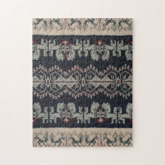 Indonesian Tribal Ikat Textiles Weavings Indonesia Puzzle