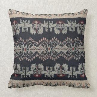 Indonesian Tribal Ikat Textiles Weavings Indonesia Throw Pillow