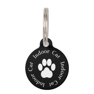 """""""Indoor Cat"""" Paw Print Cat Tag"""
