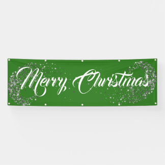 Indoor Outdoor Custom Banner-Merry Christmas Banner