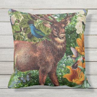 Indoor/Outdoor Deer Throw Pillow / Customizable