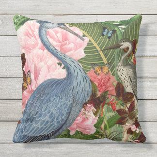 Indoor/Outdoor Herons Throw Pillow