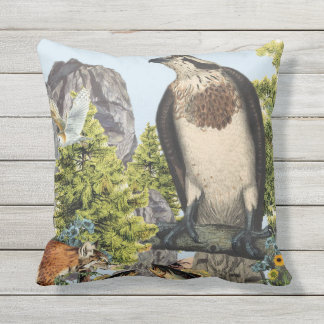 Indoor/Outdoor Osprey Throw Pillow/Customizable Outdoor Pillow