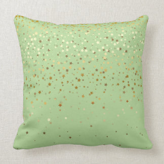 Indoor Petite Golden Stars Square Pillow-Apple Throw Pillow