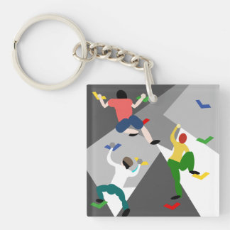 Indoor Rock Climbing Keychain