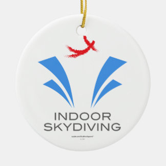 Indoor Skydiving Ceramic Ornament