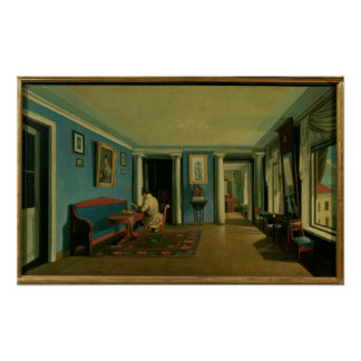 Indoors Drawing Room with Columned Entresol Print