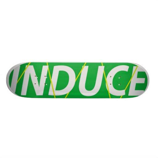 INDUCED YLLW STCKS CUSTOM SKATE BOARD