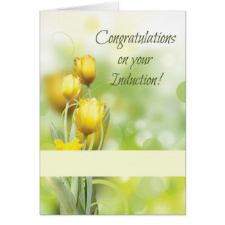 Induction of Baptist Minister Congratulations Card