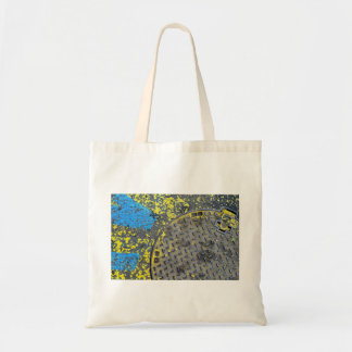industrial abstract street urban background budget tote bag