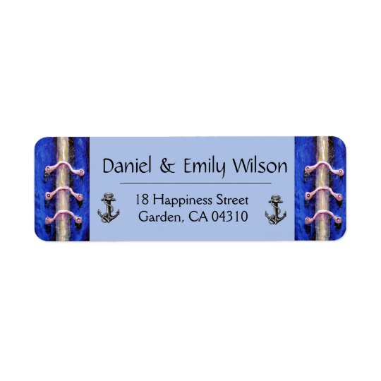 Industrial Anchor Royal Blue Abstract Design
