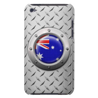 Industrial Australian Flag with Steel Graphic iPod Case-Mate Cases