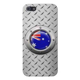 Industrial Australian Flag with Steel Graphic iPhone 5/5S Cases