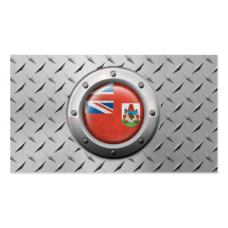 Industrial Bermuda Flag with Steel Graphic Pack Of Standard Business Cards