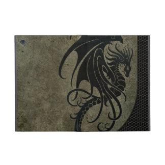 Industrial Black Dragon on Steel Mesh Graphic iPad Mini Cover