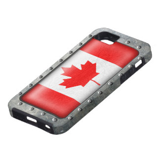 Industrial Canadian Flag Case For The iPhone 5