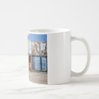 Industrial cargo container for shipping coffee mug