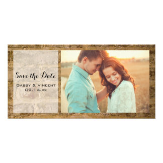 Industrial Chic Bricks Wedding Save the Date Card