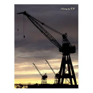 Industrial Crane Silhouette Postcard