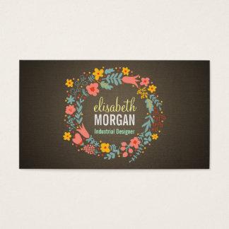 Industrial Designer - Burlap Floral Wreath Business Card