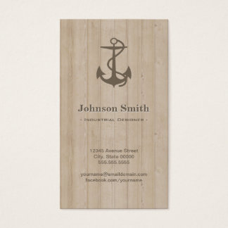 Industrial Designer - Nautical Anchor Wood Business Card