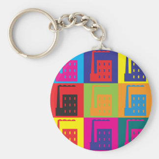 Industrial Engineering Pop Art Keychain