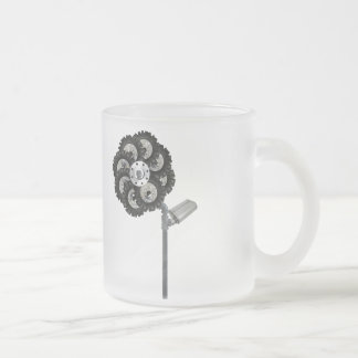 Industrial Flower Frosted Glass Coffee Mug