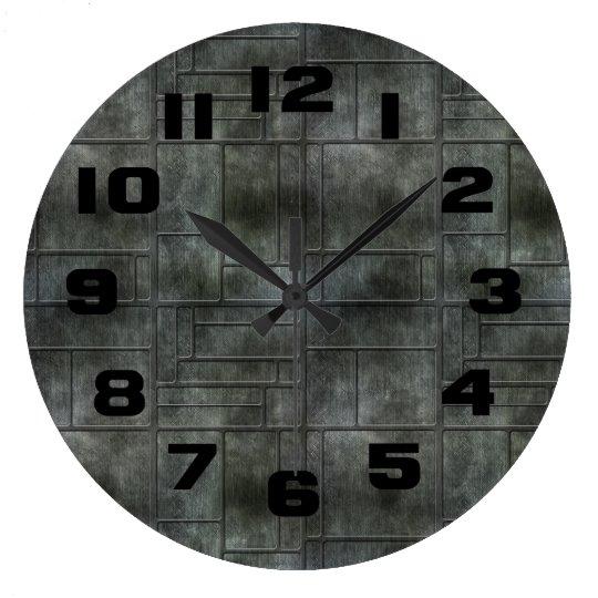 Industrial Grey Metal Clock